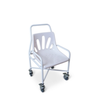 Shower chair with castors