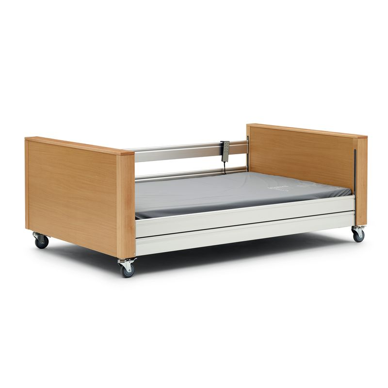 Hartwell Bariatric Profile Bed c/w Side Rails - Beech 1200mm wide platform